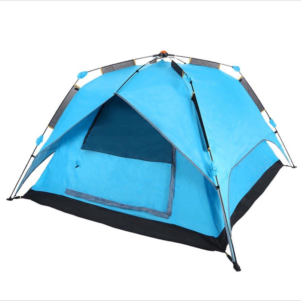 スピンタイプ自動テントホットセールフリースピードオープンダブルデッキ1ベッドルームテント折りたたみポータブルテント   B07C1JHDX3