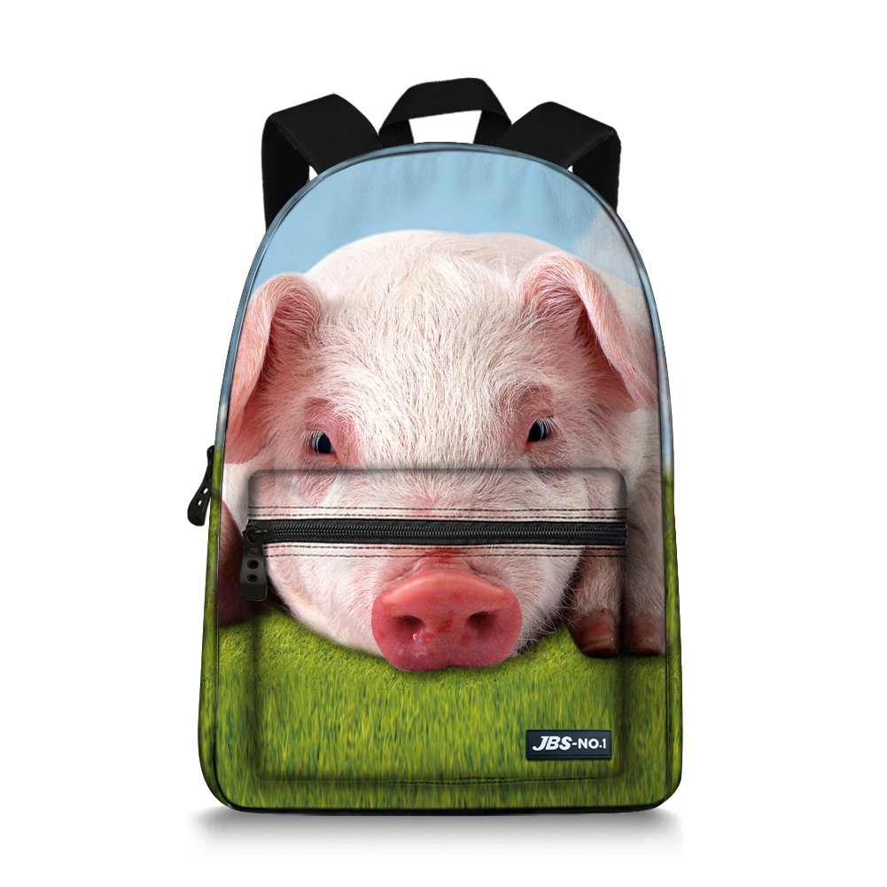 summeridea Cool 3d動物子供学校ブックバッグKids印刷バックパック  豚 B073TR6JPM