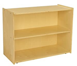 "Childcraft 1526314 ABC Furnishings Deep Shelf Storage Units, 27.38"" Height, 16"" Width, 36"" Length, Natural Wood"