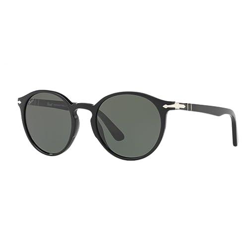 Persol 3171, Gafas de Sol Unisex, Black 95/31, 49