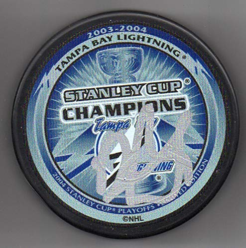 Darryl Sydor autographed puck Tampa Bay Lightning 2004 Stanley Cup Champions