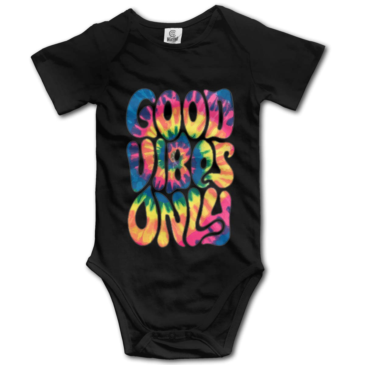 XHX Newborn Baby Good Vibes Only Short Sleeve Romper Onesie Bodysuit Jumpsuit