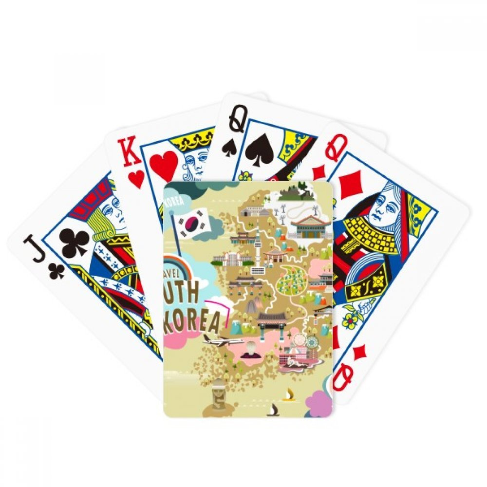 beatChong South Korea Map Love Travel Poker Playing Card Tabletop Board Game Gift by beatChong