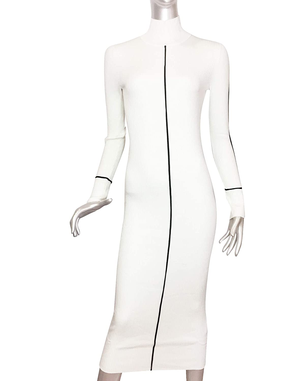 278001f7 Zara Women Ribbed Dress 3471/008 Off-White at Amazon Women's Clothing store: