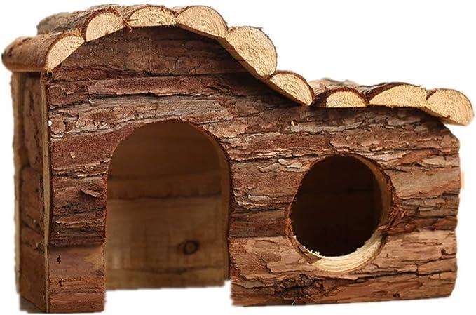 Casa del Hámster Los animales pequeños escondite Hut Madera Hamster Casa hámster enano Jaula de albergue cabina for Erizo enano hámster rata del ratón Jerbo Y Otros Animal doméstico Madera Inicio