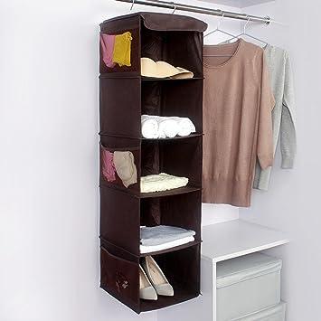 Home Hanging Clothes Storage Box 5 Shelving Units Hanging Closet Organizer Closet  Cubby Sweater U0026