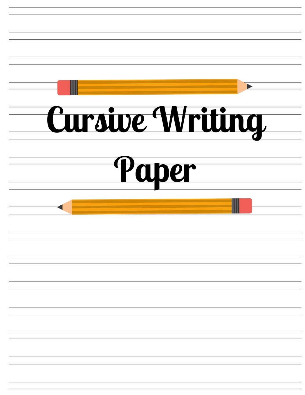 Cursive Writing Paper: Kais Journals: 9781718030664: Amazon.com: Books