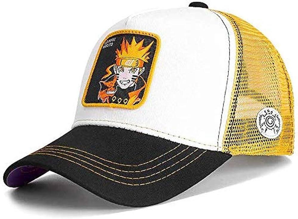 Gorra Visera Curva Trucker Naruto Uzumaki Blanco Negro y Amarillo ...