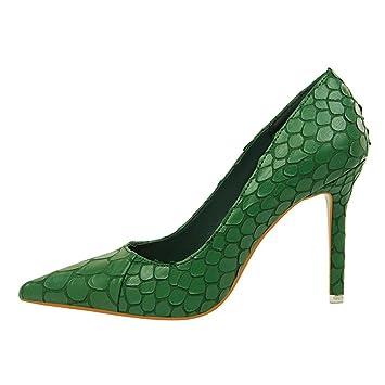Women Es High Heels PU Retro Sexy Mode Flachen Mund Spitze Stiletto Heels Sandalen Brautjungfern Schuhe Braut...