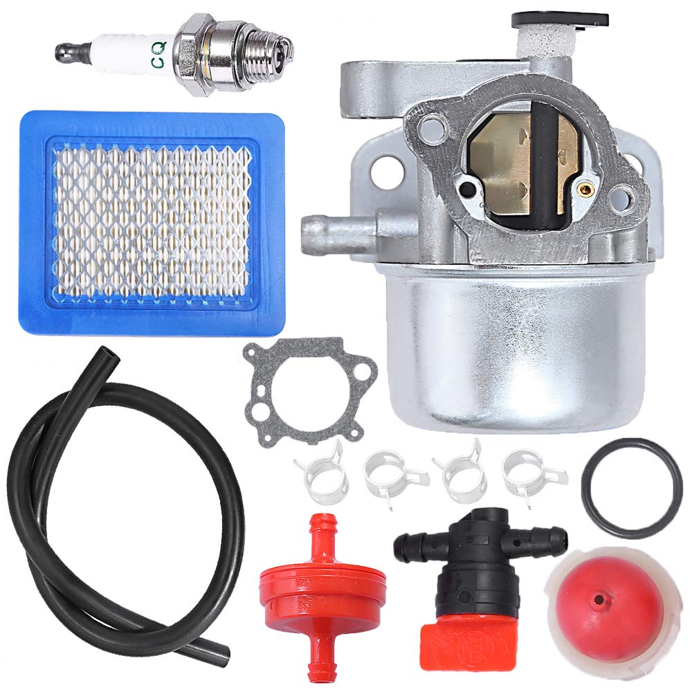 "Carburetor for Briggs & Stratton 799866 790845 799871 796707 794304 12H800 Engine Toro Craftsman Lawn Mower Carb Toro 22"" Recycler with Air Filter Spark Plug Primer Bulb"