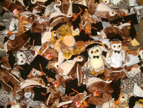 TY Beanie Graduation owls Mixed lot of 20 Random assortment including Wise, Wiser, Wisest 1998, 1999, 2000 etc. (Memorabilia Graduation)