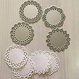 FashionSun Metal Die Cuts Set Include 4 Different Patterns Round Lace Flower Border Cutting Dies Cut Stencils for DIY Scrapbo