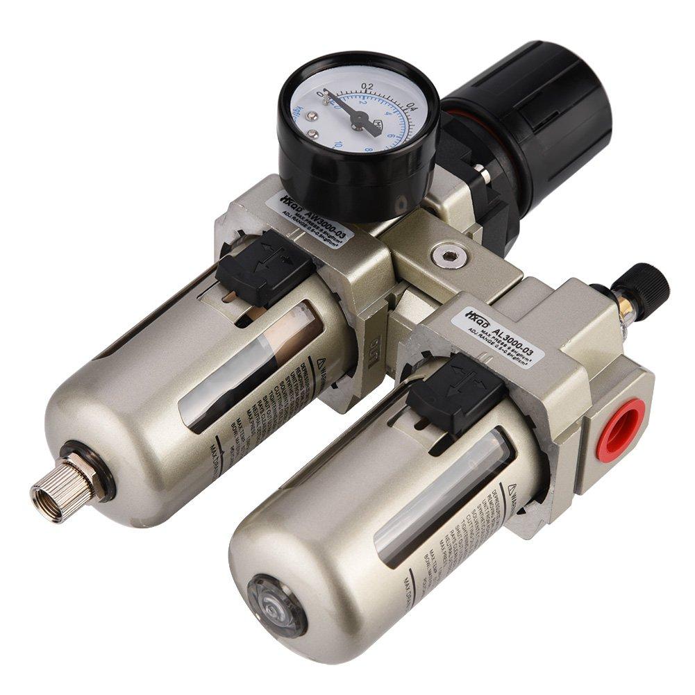 Haofy Filtro Regulador para Aire Regulador para Aire Comprimido Aleaci/ón de Aluminio Neum/ática AC3010-03 3//8