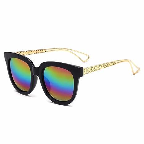 RDJM Occhiali da sole per donna, occhiali da sole con montatura in metallo e plastica Occhiali da sole stile europeo UV400, multicolore Opcional, E