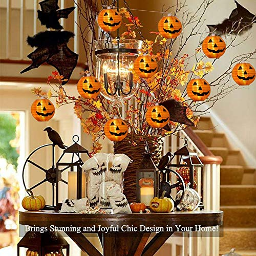 WmBetter Pumpkin String Lights Detachable Polyester Halloween Pumpkin Lanterns with 10 LED lights for Halloween Decoration by Wmbetter (Image #3)