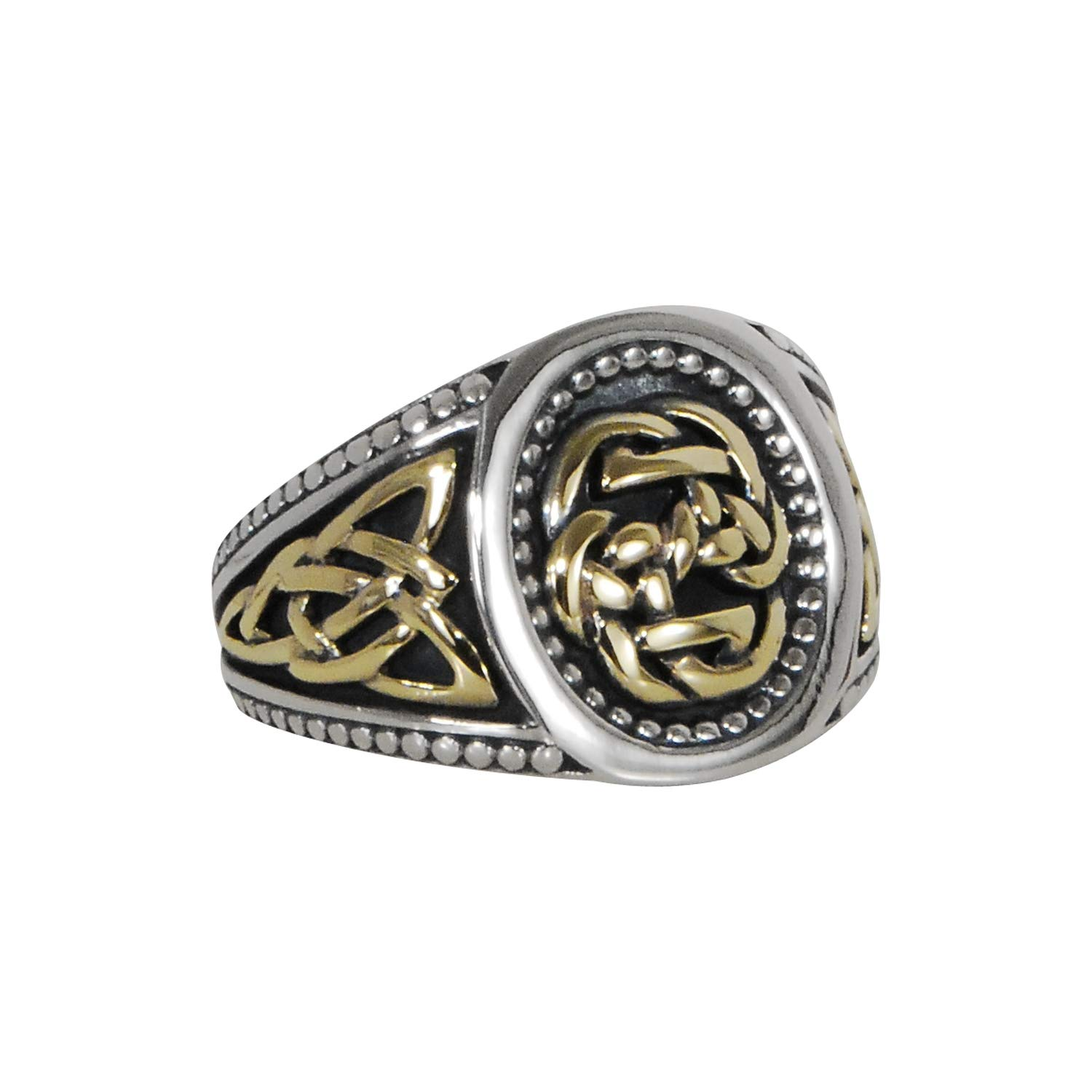 Path Of Life Ring Celtic Knot Mens Ring In Silver And Gold By Keith Jack