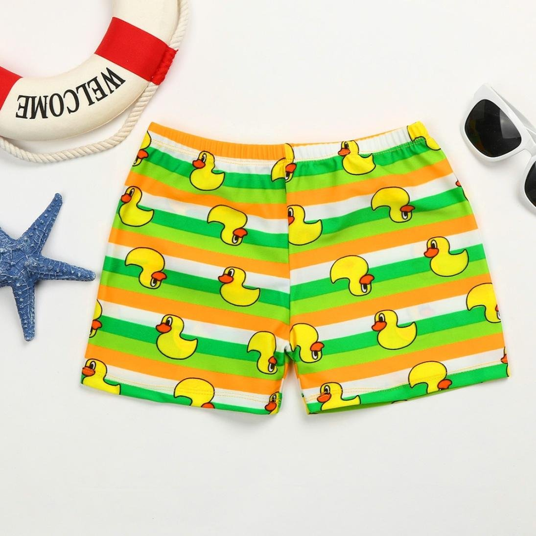 Elevin Toddler Kids Boys Striped Beach Swim wear Trunks Briefs 0-10T TM Swimsuit for Boys