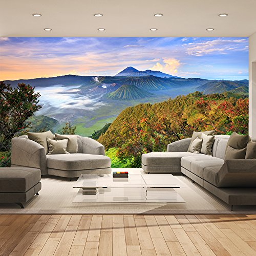 Sunrise Over Bromo Volcano Indonesia Landscape Wall Mural Photo Wallpaper available in 8 Sizes Gigantic Digital by IconWallStickers