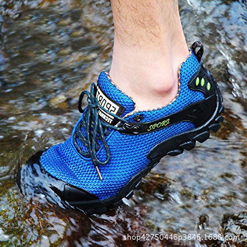 Deslizan Zapatos Del Gran Escalada Aire Los Hombres Malla De Tamaño Verano La Blue Netos Deportes Libre Al Yxlong Hwq1aa
