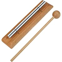 Meditation Chime Ehome Solo Percussion Instrument with Mallet for Prayer Yoga Eastern Energies Musical Chime Toys for…