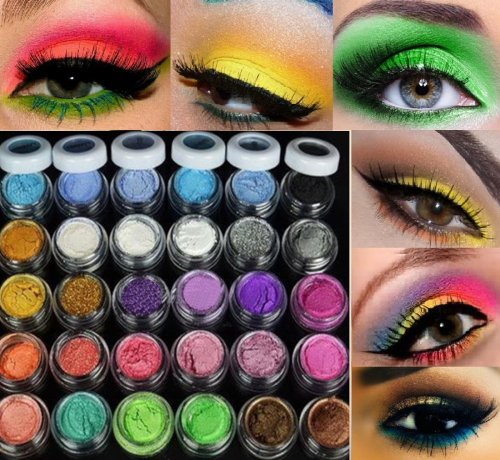 30 Colors Eye Shadow Powder pigment Colorful Makeup Mineral