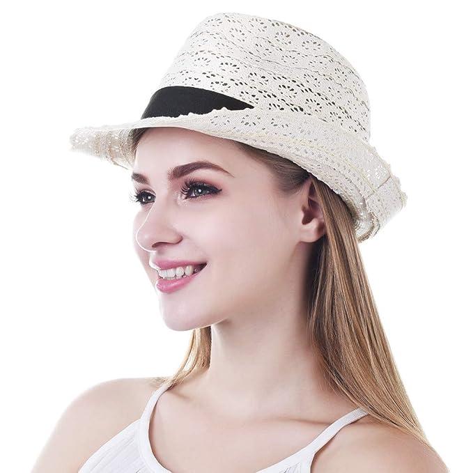 Entdecken Sie die neuesten Trends neue Version mäßiger Preis VBIGER Unisex Sonnenhut Faltbarer Strohhut Panamahut Herren ...