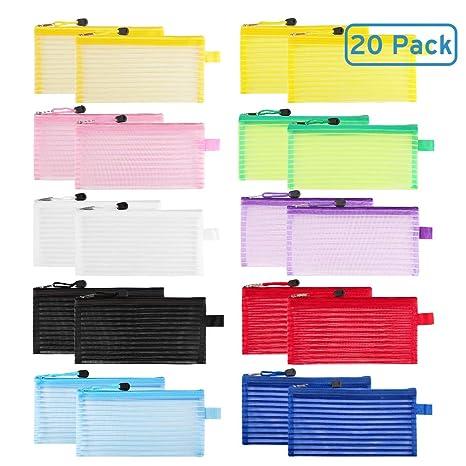 Amazon.com: Paquete de 20 bolsas de malla con cremallera de ...