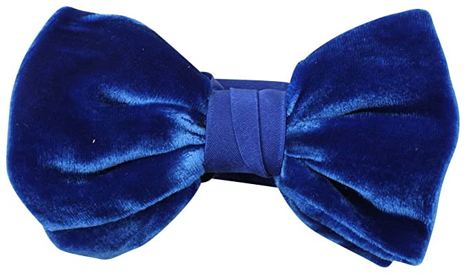 d95dd972eec1 Knightsbridge Neckwear Mens Velvet Bow Tie - Royal Blue: Amazon.co.uk:  Clothing