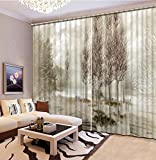 Sproud 3D Printing Curtains Room Decorations Blackout Cortians Beautiful Full Light Shading Bedroom Curtains 260Dropx380Wide(Cm) 2 pieces