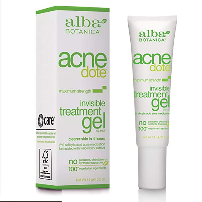 Amazon Com Alba Botanica Acnedote Maximum Strength Invisible Treatment Gel 0 5 Oz Facial Treatment Products Beauty