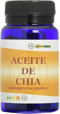 Alfa Herbal Aceite de Chia 60 Perlas - 1 unidad: Amazon.es: Salud y cuidado personal