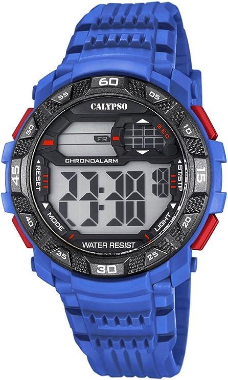 Calypso Hombre Reloj Digital con Pantalla LCD Pantalla Digital Dial Azul y Correa de plástico k5702/2