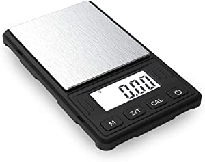 Truweigh - RIOT Digital Mini Scale - 100g x 0.01g - (Black/Black) and Long Lasting Portable Grams Scale - Kitchen Scale - Food Scale - Postal Scale - Herb Scale - Meal Prep Scale