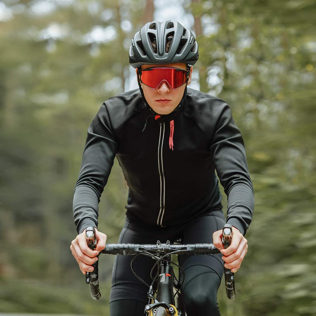 Przewalski Winter Cycling Bike Jacket for Men Thermal Softshell Cycling Jacket Windproof Waterproof Breathable Coat
