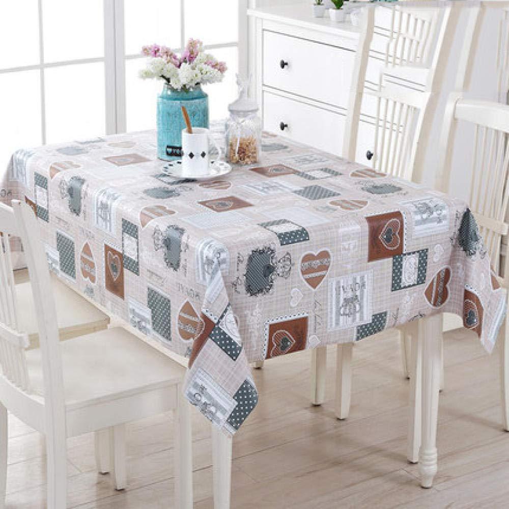WJJYTX Wachstuch tischdecke, quadratische Tischdecke für Tischtücher aus PVC, ölbeständig/wasserdicht, schmutzabweisend European Garden Table Mat Bookmark @ 120 * 160