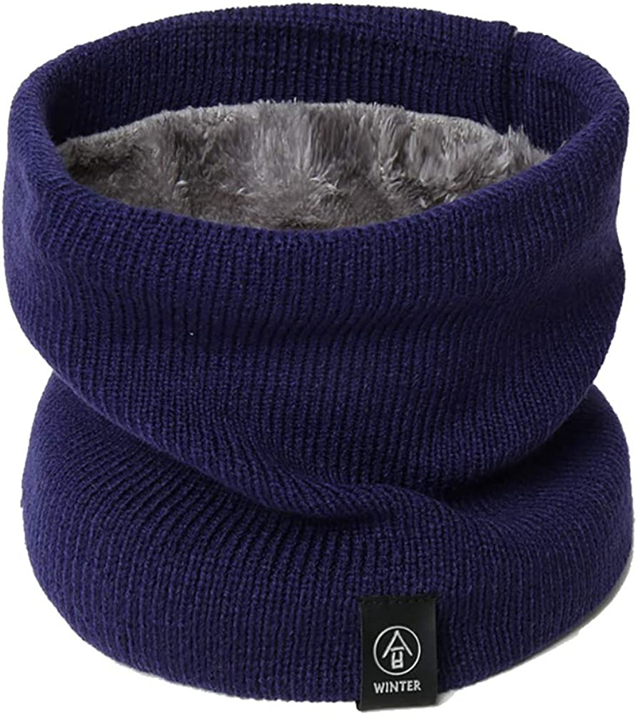 ROEFIM Winter Neck Gaiter Winter Windproof 2-Ply Polar fleece Neck Warmer Mask for Womens Mens