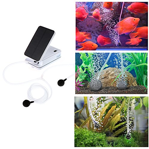 Air Pump Solar Kit Sunsbell Solar Powered Pool Pond Fish Tank Import It All