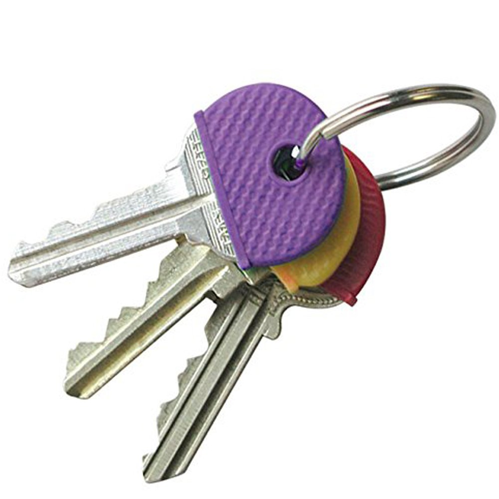 LYXY 20 x Pack of Mixed Coloured Rubber Key Caps Fits Most Standard keys Made of Plastic