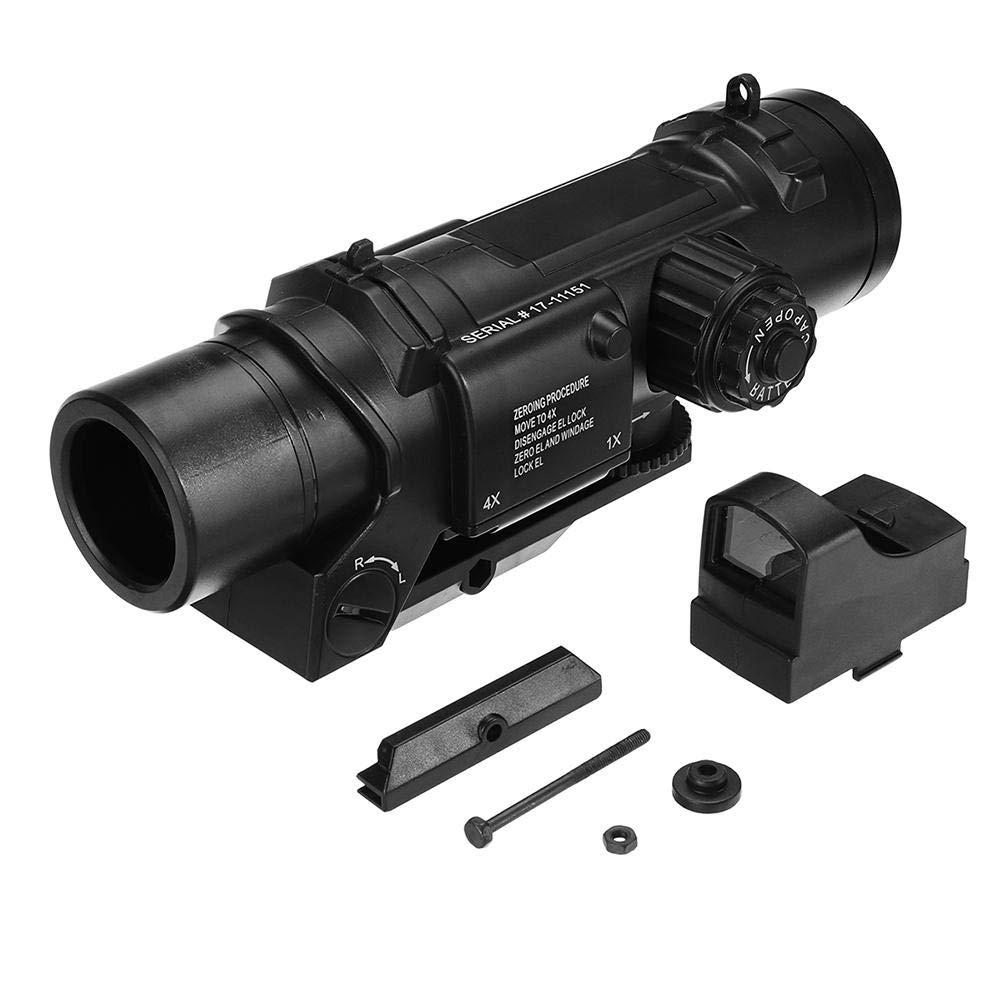 visor punto rojo 4X Magnifier Aiming Star con Red Dot accesorios para el lanzador de bombas de agua