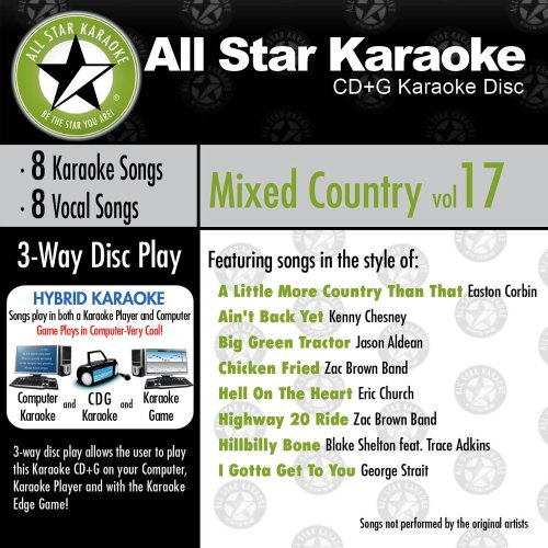 All Star Karaoke Mixed Country Vol. 17 (ASK-826)