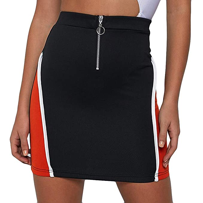 Faldas Mujer Cortas Vestidos Mujer Casual Alto Elástico Ropa ...