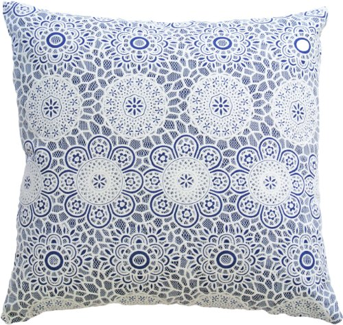 Blue Dolphin Decorative Lace Front Throw Pillow Cover 18
