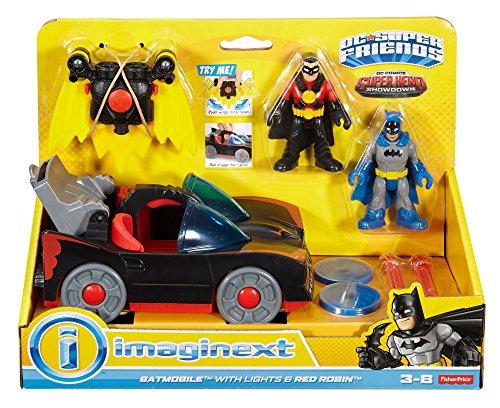 fisher-price-imaginext-dc-super-friends-dc-comics-superhero-showdown-batmobile-with-lights-red-robin