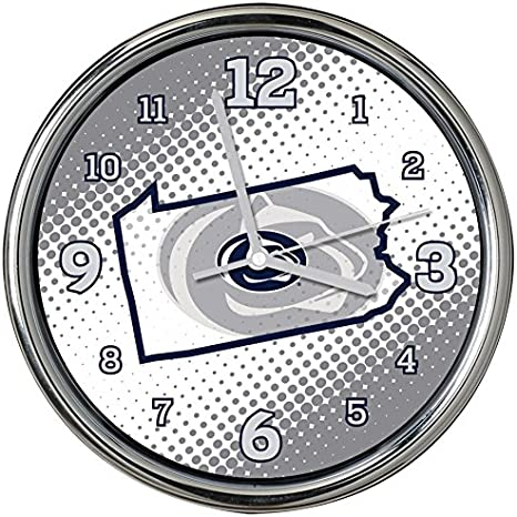 State of Mind Style The Memory Company NCAA Unisex-Adult Chrome Clock