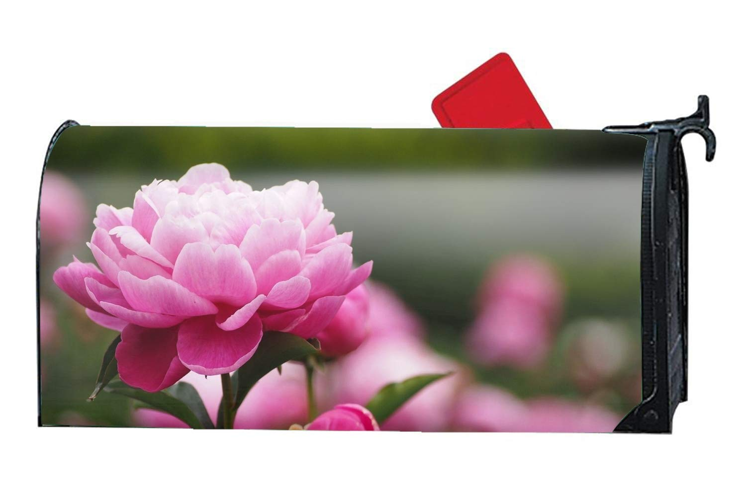 Tymeihao Pink Peony Mailbox Cover - Mailbox Makeover - Magnetic Cover 9'''' W x 21'''' L