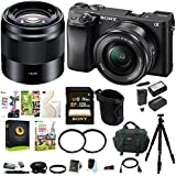 Sony a6300 Mirrorles Digital Camera w/ 16-50mm f/3.5-5.6 & 50mm f/1.8 OSS Lens Bundle