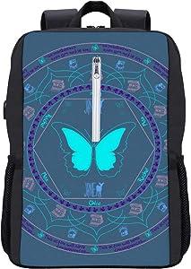 Life is Strange Mandala Backpack Daypack Bookbag Laptop School Bag with USB Charging Port