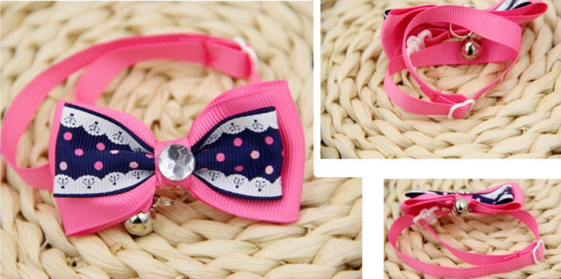 Fushenr Arnés de Mascotas Strawberry Dot Cat Collar de Cuello ...