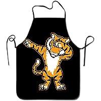 """Personalized Kitchen Apron for Waitress Women Men - 28.34"""" X 20.47"""" - Tiger Dabbing Black"""