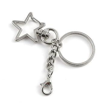 Amazon.com: JCBIZ - Llavero con diseño de estrella, clip de ...